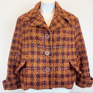 Chepè Italian boucle wool blend coat jacket